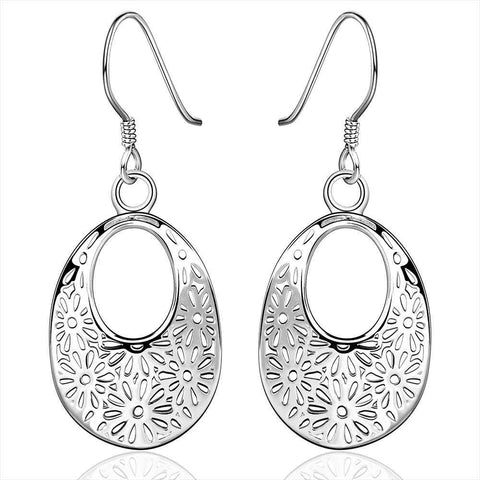 hollow flower earrings for women