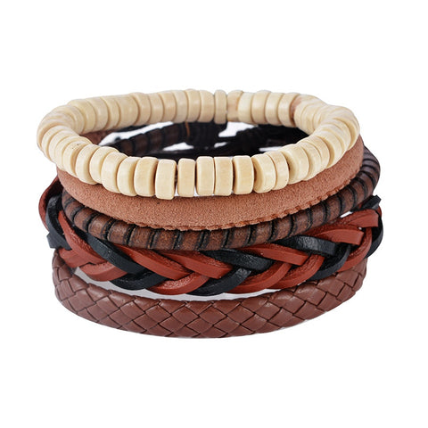 multilayer leather bracelet - very-popular-jewelry.com