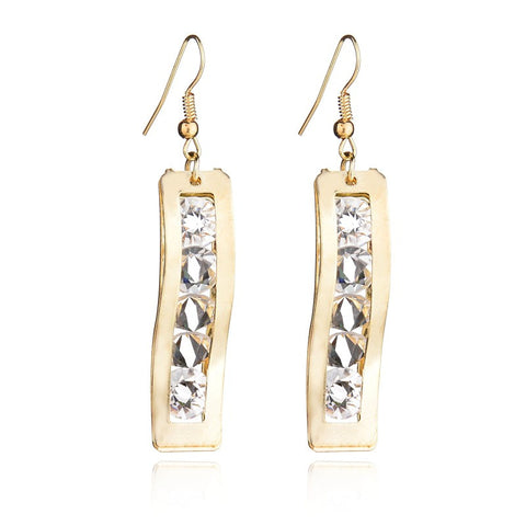 gold color hanging earrings