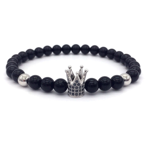 trendy imperial crown charm bracelet for men
