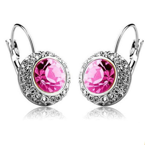 multiple color vintage crystal stud classic earrings