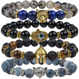 buddha beads helmet charm natural stone bracelet for men - very-popular-jewelry.com