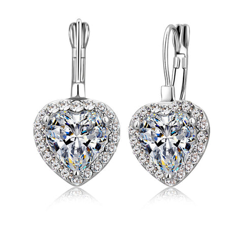 crystal cubic zirconia woman dangle earrings