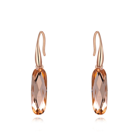 rose gold color zircon crystal earrings
