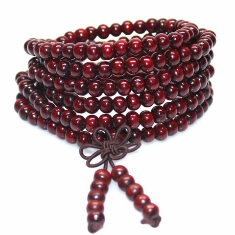natural sandalwood buddhist mala bracelet - very-popular-jewelry.com