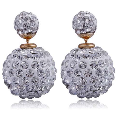 double sided crystal earrings for women