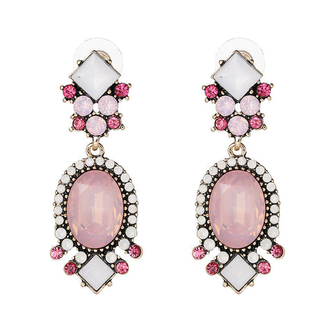 statement crystal stud earrings for women