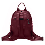 casual style pu leather backpack bag for women
