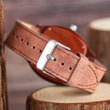 trendy roman numbers dial square wooden dial leather wrist watch