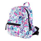 cute colorful water animals print backpack school bag for women