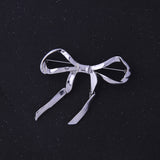 elegant metal bowknot shaped brooch pin for women