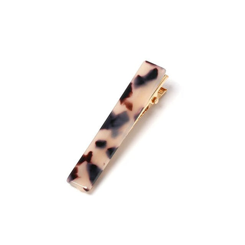 trendy colorful patterns acrylic hair pins for women