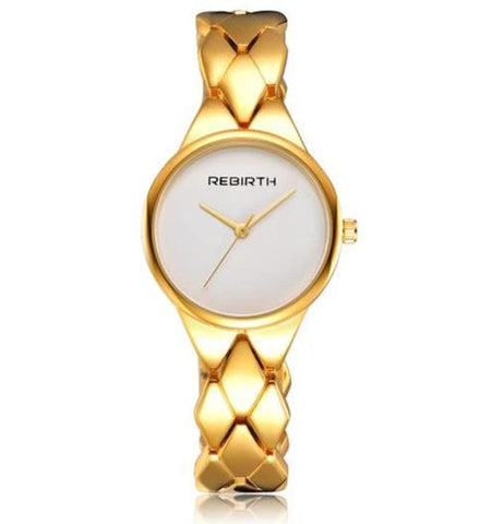 elegant stainless steel quartz waterproof wrist watch for women
