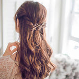 trendy metal branch design side clamping hair clip for women