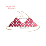 trendy shiny red hearts sequins hollow top bra body jewelry