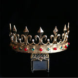 european colorful crystal golden tiara crown hair jewelry for women