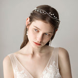 elegant pearl beads vine ornament hair tiara for women