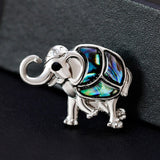 cute natural shell elephant shaped brooch pin for women