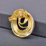 elegant colorful crystal round spiral shaped brooch pin for women