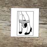 sexy women lips pattern temporary tattoo sticker