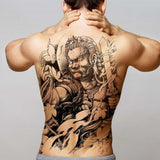 cool full back chines motives pattern temporary tattoo sticker