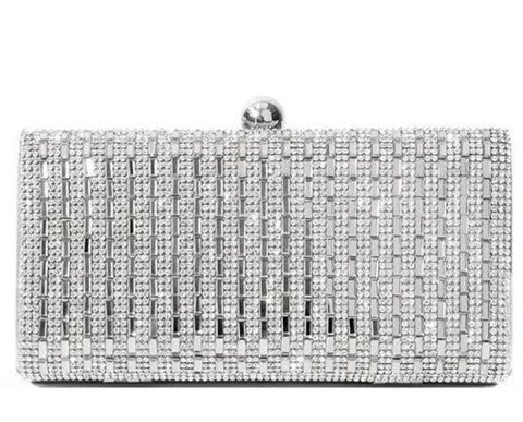 luxury shiny rhinestone crystal evening shoulder bag for women