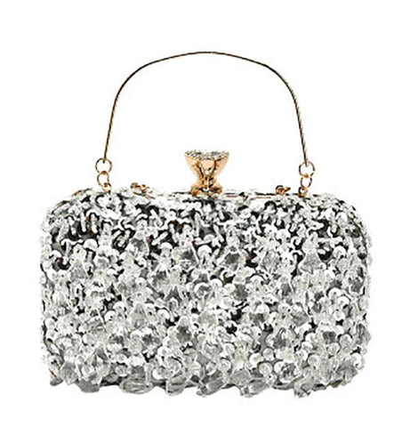 luxury shiny sequins evening tote hand bag for women