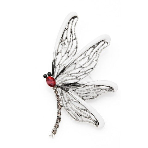 trendy enamel hollow wings dragonfly brooch pin for women
