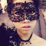 sexy black lace hollow eye mask body jewelry for women
