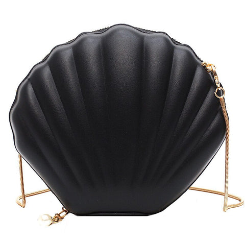 elegant shell shaped evening shoulder bag for women