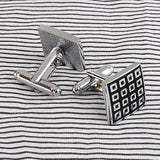 stainless steel enamel cufflinks for men