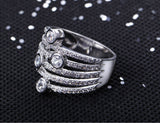luxury crystal zircon stone ring for women