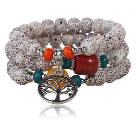 3pcs/set buddhism zen style beads bracelet & bangle
