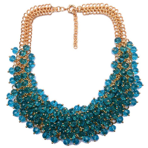 luxury colorful gem statement necklace & pendant for women
