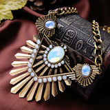 egyptian gold color chunky necklace statement for women