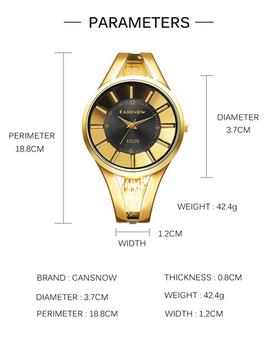 elegant unique pattern dial hollow steel band wrist watch for women