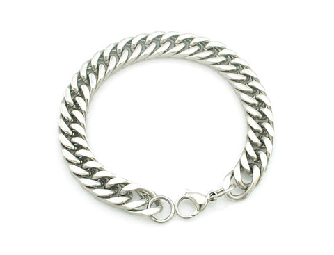 simple chain link bracelet for men