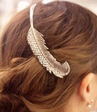 vintage sparkling rhinestone feather shape hair pin for women