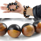 natural wood beads mala men's bracelet
