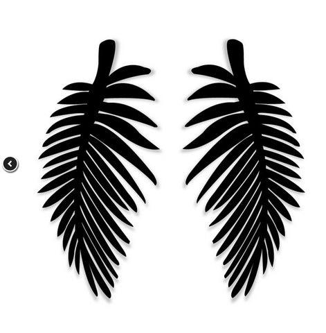 hip hop style big leaf stud earrings for women