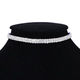 elegant crystal choker necklace for women
