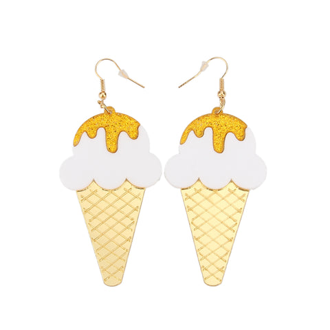 hip hop acrylic ice cream earrings for women