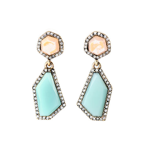 dangling resin stone runway earrings for women