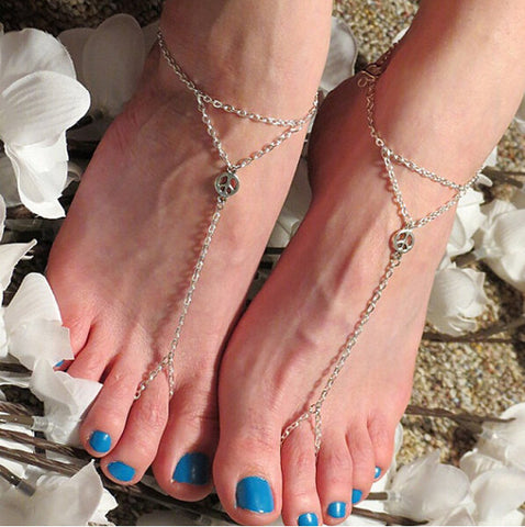 trendy multi tassel toe chain anklet for women