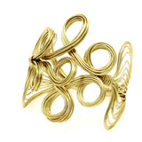solid metal cuff bracelet for women