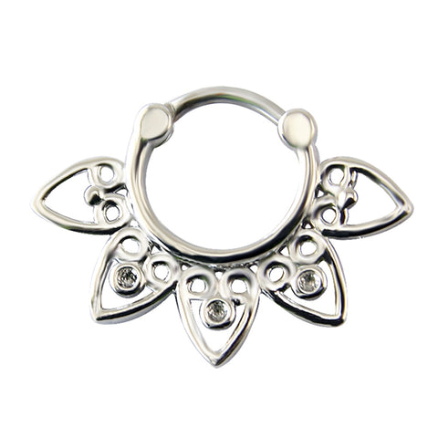 stainless steel septum piercing nose ring