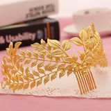 vintage gold leaves hair comb tiara crown for women