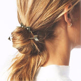 trendy gold color arrow shaped hair pin for women