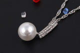 elegant simulated pearl & crystal jewelry set for women