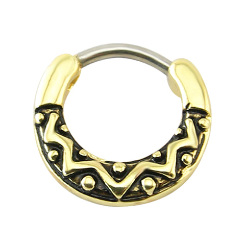 vintage piercing clicker small septum nose ring